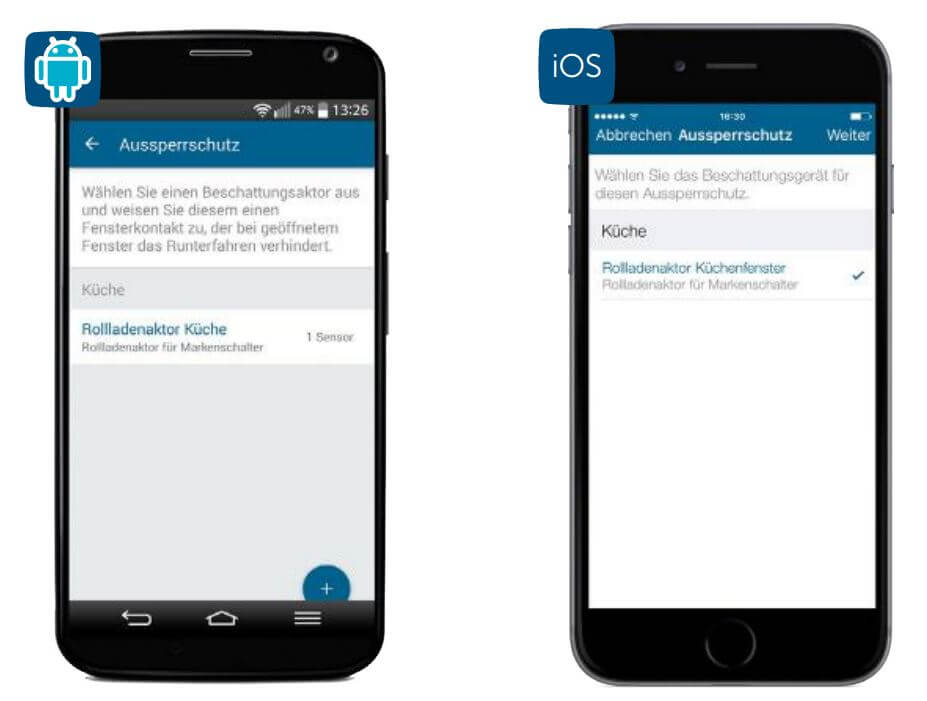 Screenshot App: Aussperrschutz