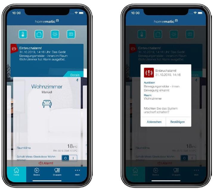 Screenshot App: Alarmmeldung
