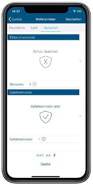 Screenshot App: Sicherheitsstatus