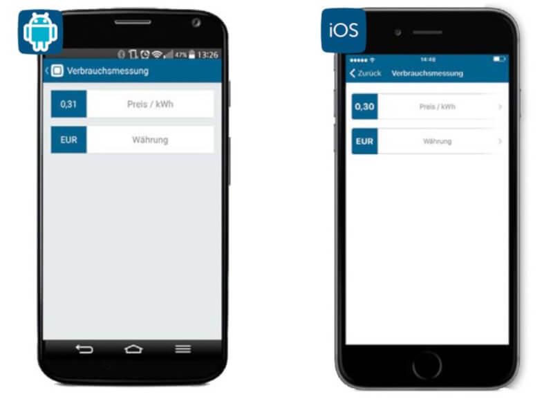 Screenshot Verbrauchsmessung