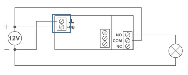 Installation Garagentorantrieb Schaltung +UB und GND