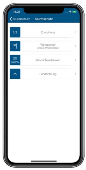 Screenshot Sturmschutz