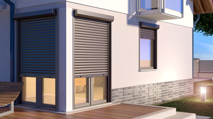 Rolladen Haus - Außenansicht