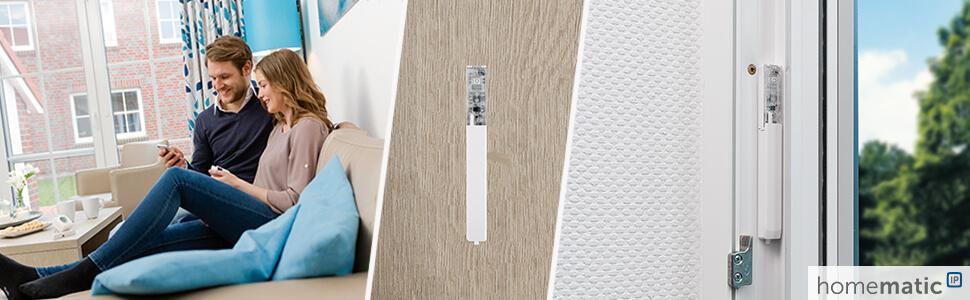 Homematic IP Tür-Fensterkontakt - verdeckter Einbau