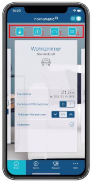 Homematic IP App - Screenshot Homescreen