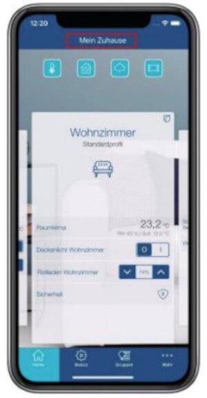 Homematic IP App - Screenshot Multi-Home