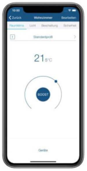 Homematic IP App - Screenshot Raum
