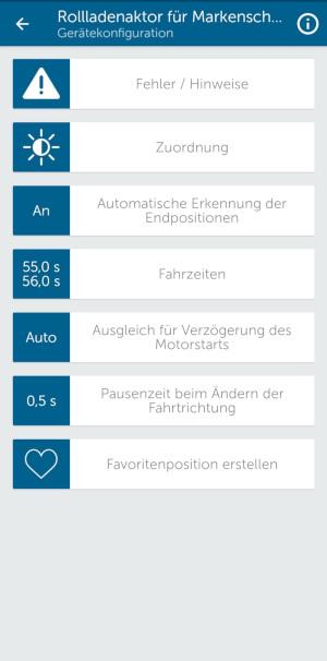 Homematic IP App - Automatische Erkennung der Endposition