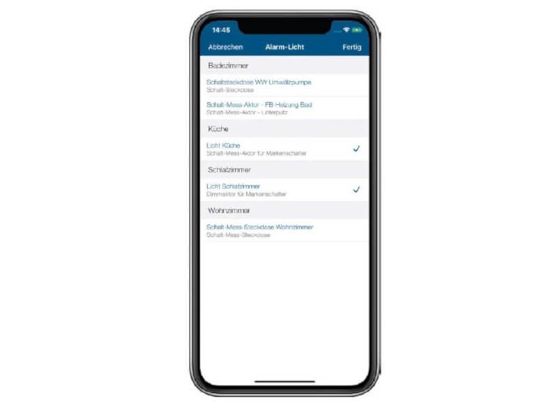 Screenshot Alarm-Licht