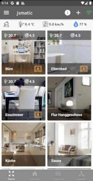 jsmatic - Darstellung Räume