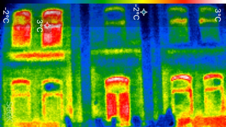 Haus Rückseite - Wärmebildkamera