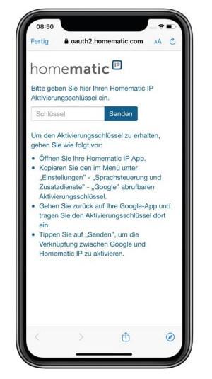 Google Home Verknüpfung