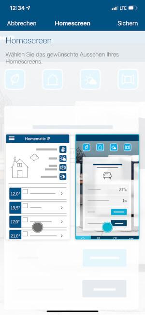 Einstellungen Homescreen 2
