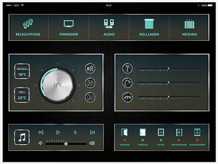 Screenshot Mediola App Tablet