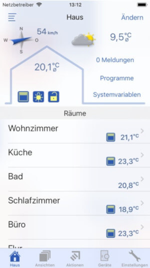 Screenshot Startbildschirm - PocketControl