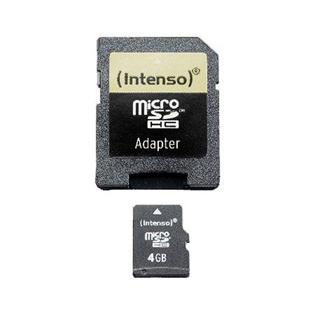 Intenso Speicherkarte microSDHC, Class 4, 4 GB