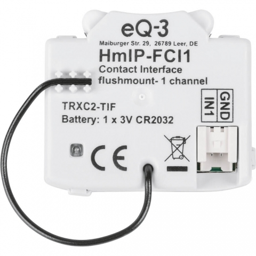 Homematic IP Kontakt-Schnittstelle Unterputz - 1-fach