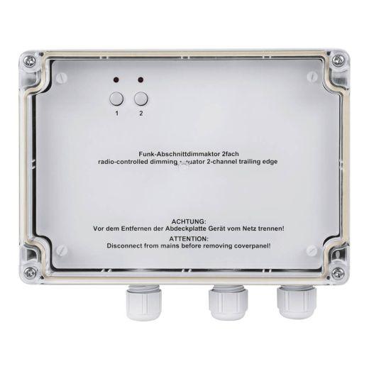 Dimmaktor 2fach Aufputz 300 VA (Phasenabschnitt)