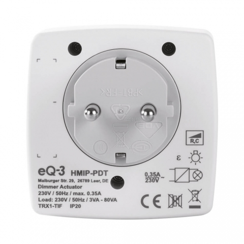 Homematic IP Dimmer-Steckdose Phasenabschnitt