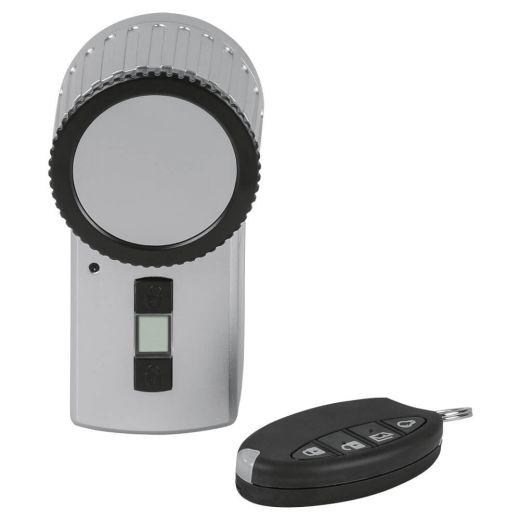KeyMatic Türschlossantrieb silber mit Handsender
