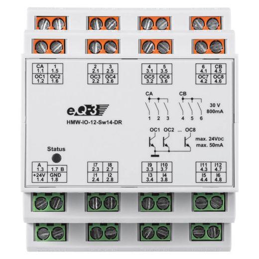 RS485 I / O Modul 12 Eingänge 14 Ausgänge
