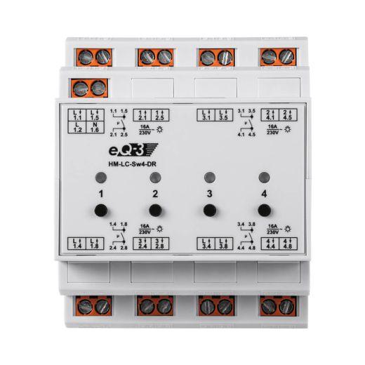 Funk-Schaltaktor 4fach Hutschiene