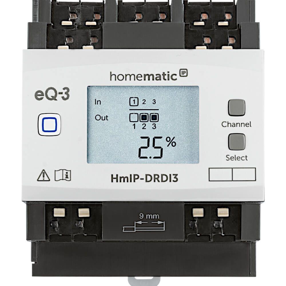 Homematic IP Dimmaktor für Hutschienenmontage