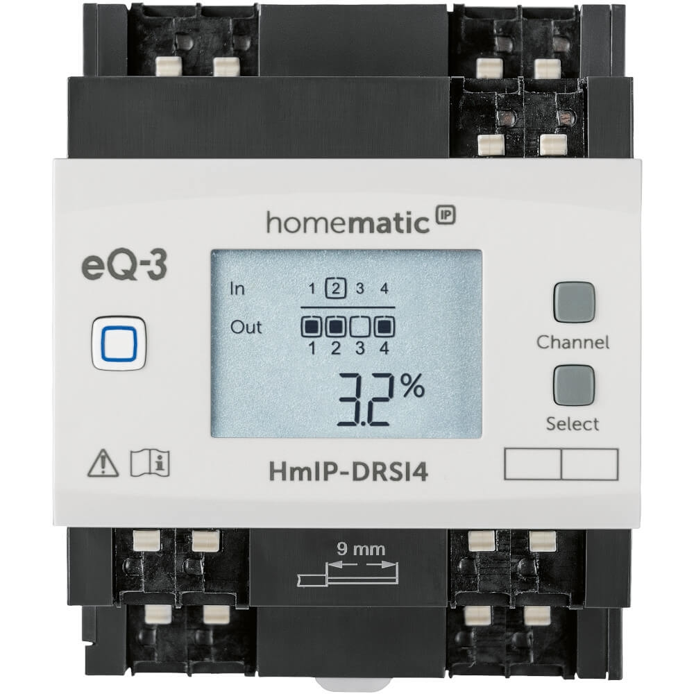 Homematic IP Schaltaktor für Hutschienenmontage
