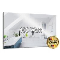 Heizprinz Infrarotheizung Spiegel 400 Watt rahmenlos 60 x 70 cm