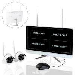 Safe2Home Überwachungssytem (Kameras und Monitor)